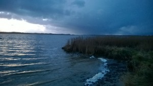 Kräftiger Regenschauer über Schleswig