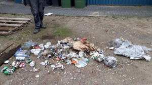 Die Müllmenge, die in 1,5 h an der ca. 1,5 km langen Küstenlinie gesammelt wurde